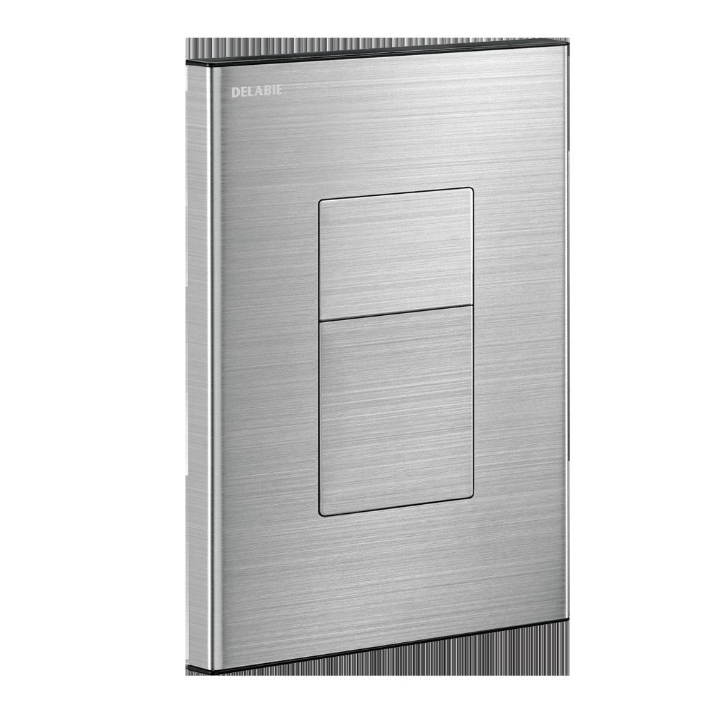 Torneira de descarga direta encastrada TEMPOFLUX 3 AB - placa em Inox satinado
