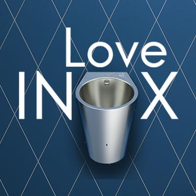 Urinol Inox híbrido HYBRIMATIC FINO : premiado em vários concursos