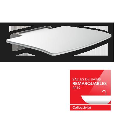 O banco de duche Be-Line® premiado : galardoado pelo «Salles de Bains Remarquables 2019»