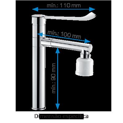 Torneiras adaptadas à instalação de filtros terminais