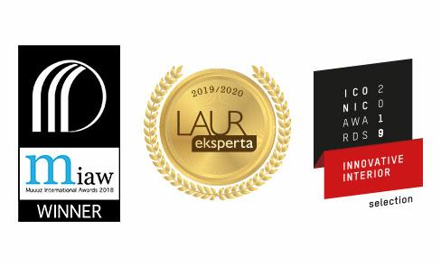 Produto selecionado e premiado por vários concursos de design