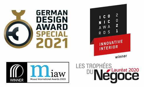 Produto premiado em vários concursos de design